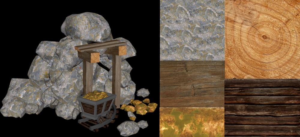 Goldmine and textures